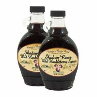 Shadow River Wild Huckleberry Gourmet Fruit Berry Syrup 10 oz - Pack of 2
