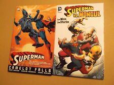 SUPERMAN LOT:  HC CAMELOT FALLS HARDCOVER + SUPERMAN VS. MONGUL TPB