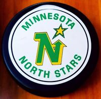 1985-92 MINNOSOTA NORTH STARS NHL VINTAGE GENERAL TIRE ZIEGLER TRENCH GAME PUCK