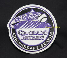 COLORADO ROCKIES 2002 10th ANNIVERSARY  MAJOR LEAGUE BASEBALL SLEEVE PATCH