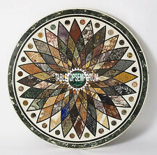 """60"""" Marble Dining Top Table Ancient Arts Inlay Mosaic Multi Stones Garden Decor"""