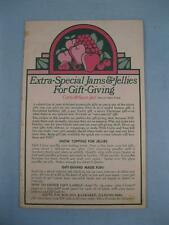 Extra Special Jams & Jellies For Gift Giving Vintage Cookbook Book General (O2)