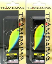 (2) Rare Team Daiwa 3/8 Oz Vibration Lipless Crankbait Blue Back Chart TDV106S11