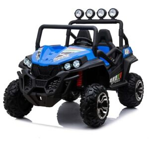 Beach Buggy Speed, 24V Electric Ride On Toy for Kids- Blue