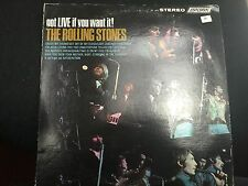 ROLLING STONES GOT LIVE IF YOU WANT IT LP 1966 LONDON PS 493 STEREO