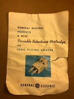 Rare 1950s General Electric RPX VRII Phono Cartridge Data Sheet Poster Ad