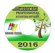 NEW 2015 Professional Accounting Software-Turbocash Books Alternative-Windows CD