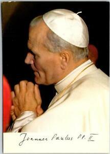 Vintage 1979 POPE JOHN PAUL II Vatican Italy Catholic Church Postcard w/ Cancel