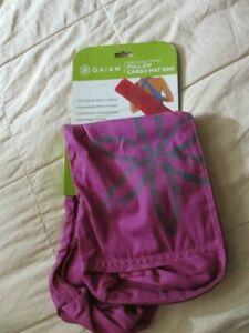 Gaiam YOGA MAT carry case Hot Pink HARMONY FLOWER full zip cargo mat bag