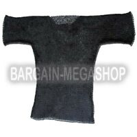 Medieval Chainmail Shirt M Blackend Butted Chain Mail Costume Armor Size Medium