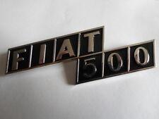 Fiat 500 Abzeichen badge Schriftzug chrome symbol