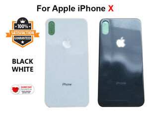 For iPhone X Battery Cover Glass Big Hole Replacement Rear Back Door ALL COLORS
