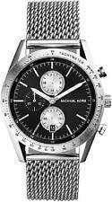 MICHAEL KORS MK8387 ACCELERATOR Chronograph Silver Tone Black Dial Men Watch