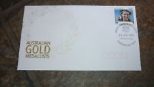 2004 AUSTRALIAN OLYMPIC GOLD MEDAL STAMP FDC, ANNA MEARES CYCLING CANBERRA PM