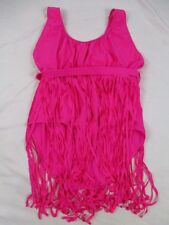 Bright Pink Womens 5XL Fringe Swimsuit One Piece Bathing Suit Summer CB84J