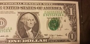 US $1 Error Bill Super Rare!!!!