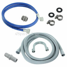 BEKO Washing Machine Fill Water Pipe & Outlet Drain Waste Hose Extension 2.5m