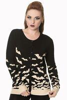 Women's Gothic Emo Rockabilly Bat Birds Black Sand Cardigan By Banned Apparel