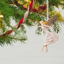 Angel of Winter Wonder 2017 Hallmark Premium Porcelain Ornament Wings Gold Horn