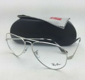New RAY-BAN Classic Aviators Rx-able Eyeglasses RB 6489 2501 58-14 Silver Frames