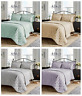 Luxury Savoy Jacquard Duvet Quilt Cover Bedding Set Grey Gold Duck Egg Bedspread