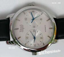 Riesige Trias Herrenuhr 2 Automatik-Werke #189-weiß Dualtime 2. Weltzeit Bj.2004
