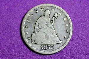 ESTATE FIND 1875 CC Seated Liberty Twenty Cent #M8678