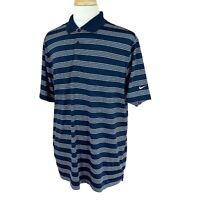 Nike Golf Men's Tour Performance Dri-Fit Navy Blue Stripe Polo Shirt XL