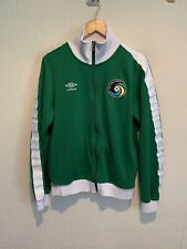 Umbro New York Cosmos Full Zip Soccer Track Jacket Sz MEDIUM MEN'S Green MLS EUC