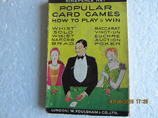 POPULAR CARD GAMES-HOW TO PLAY TO WIN-FOULSHAM-1920/30s