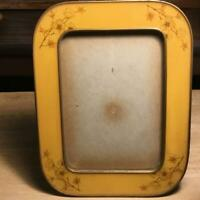 "Vintage Bucklers Inc 5th Ave, NY. Enamel Rectangle Picture Frame 8 1/4"" X 6 1/2"""