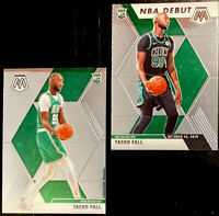 🔥 2019-20 Panini Mosaic Tacko Fall RC Lot! Base + NBA Debut Boston Celtics