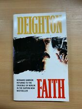 1996 LEN DEIGHTON FAITH FICTION PAPERBACK BOOK (P2)