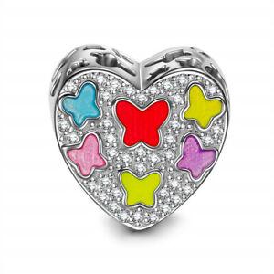 Diy1Pcs New Silver European Cz Charm Crystal Spacer Beads Fit Necklace Bracelet