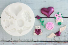 Silicone Mould, Love Heart, Rose, Valentine, Bouquet  Ellam Sugarcraft M104
