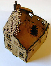 15mm WW2 1 x Ruined Terraced Houses (Style 1), FOW Flames of War