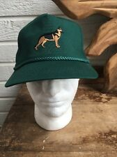 German Sheppard Dog Green Hat One Size Snapback