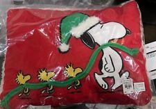 Pottery Barn Kids Holiday SNOOPY  woodstock peanuts CHRISTMAS pillow