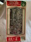 "Vintage Super Drape Silver Christmas Garland Tinsel 25""x 2"" Woolworth"