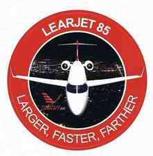New LearJet Model 85 Business Jet Sticker Larger Faster Farther Bombardier ICT
