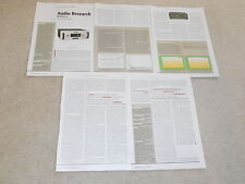 Audio Research Reference 3 Tube Preamp Review, 6 pages, Full test, 2006, Specs