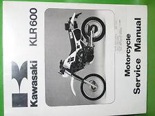 KAWASAKI KLR600 A1 1984 SERVICE MANUAL BOOK #99924-1050-01 OEM