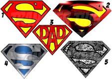 SUPERMAN MARVEL LOGO STICKER /AUTOCOLLANT OU TRANSFERT TEXTILE VETEMENT T-SHIRT