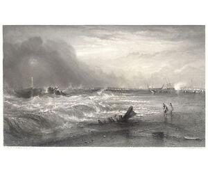 Print - J. M. W. Turner: Stranded vessel - Appleton, NY 1880's - Cert: p57