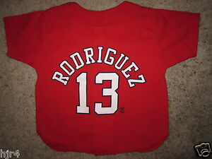 Alex Rodriguez #13 New York Yankees Red MLB Jersey Toddler M 5-6 NEW