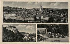 Weilburg Lahn alte Mehrbildkarte ~1930/40 Totale Schloß Partie im Schloßgarten