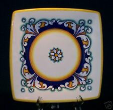 """Deruta ~ Hand Painted 8"""" Sq Plate HAND SIGNED Italian Pottery  NEW"""