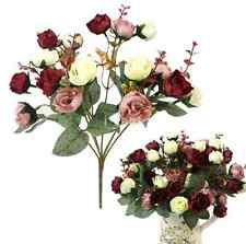 21 Heads Real Touch Fake Rose Flowers For Wedding Bouquet Party Decoration US
