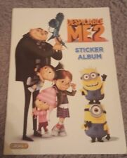 TOPPS DESPICABLE ME 2 STICKER ALBUM AND STICKERS