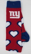 NEW YORK GIANTS NFL HEARTS LADIES KNEE-HIGH LONG SOCKS *WOMEN'S MEDIUM